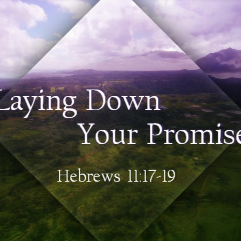 Laying Down Your Promise
